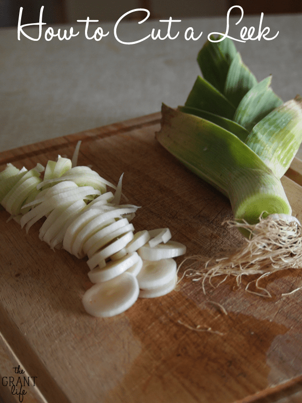 How to Cut a Leek