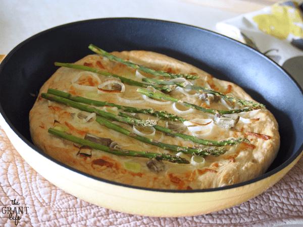 Spring Vegetables - Leek and Asparagsu Pizza
