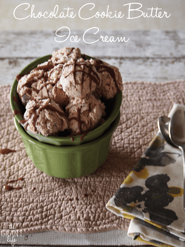 Chocolate cookie butter ice cream via thegrantlife