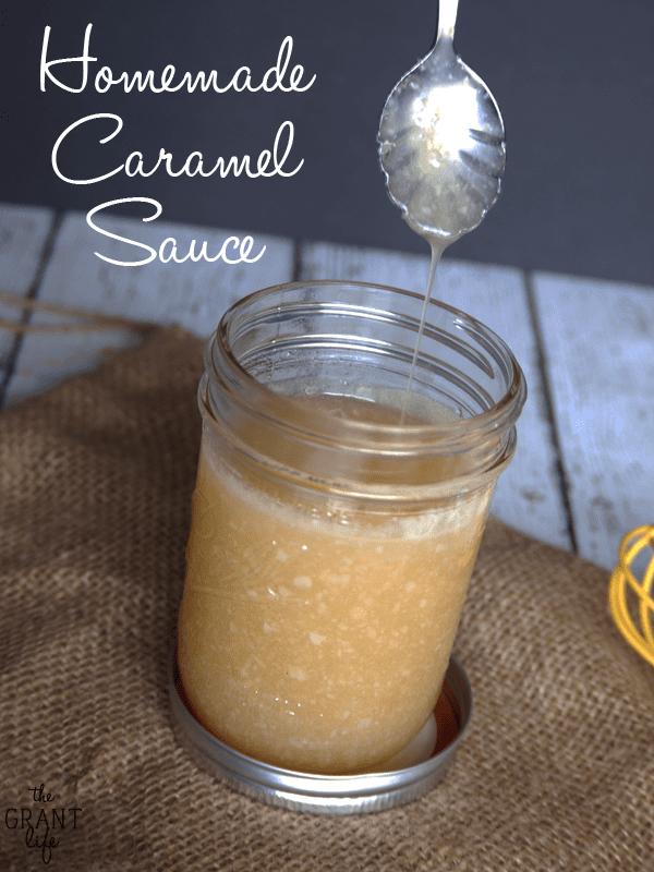 Homemade Caramel Sauce - Easy recipe for caramel sauce!