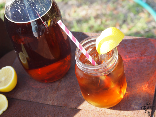 Homemade sun tea