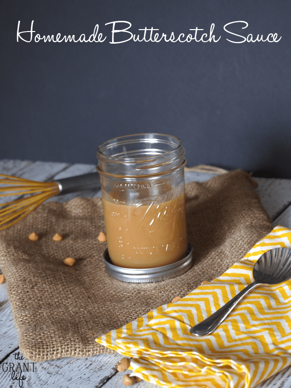 How to make homemade butterscotch sauce