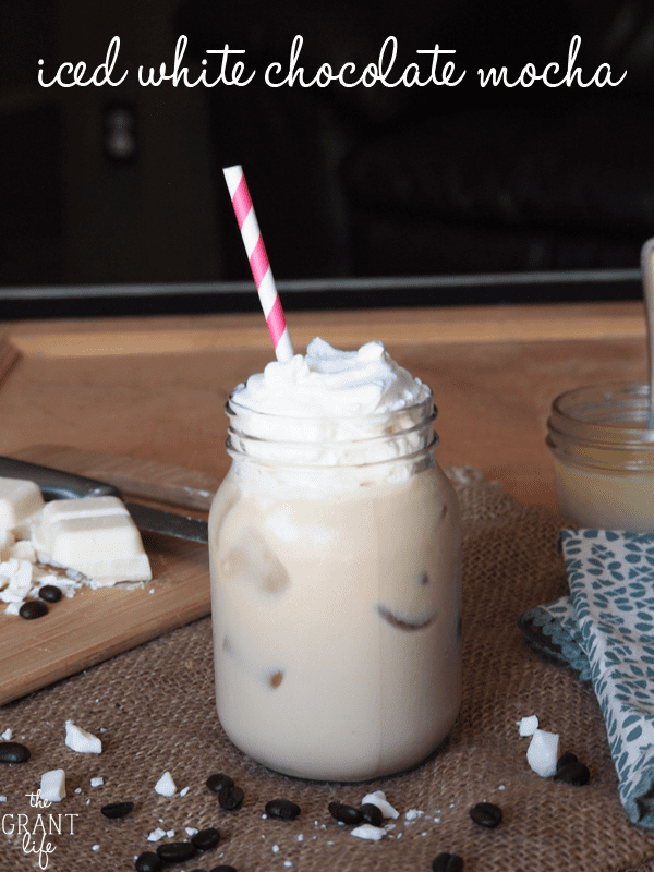 Iced white chocolate mocha - Starbucks copycat!