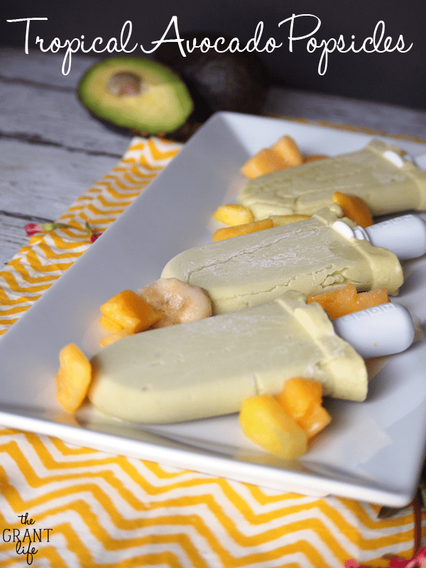 Tropical Avocado Popsicles