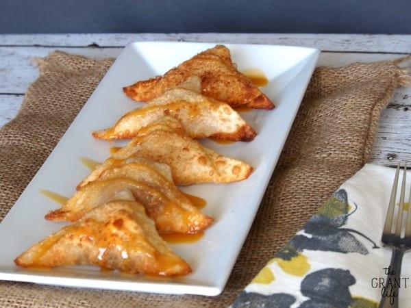 caramel banana wonton recipe