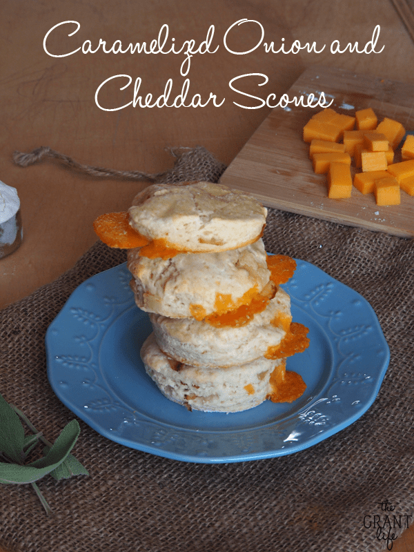 Caramelized onion and cheddar scones