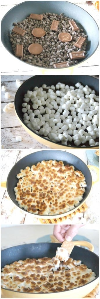 Easy Reeses Skillet Smores