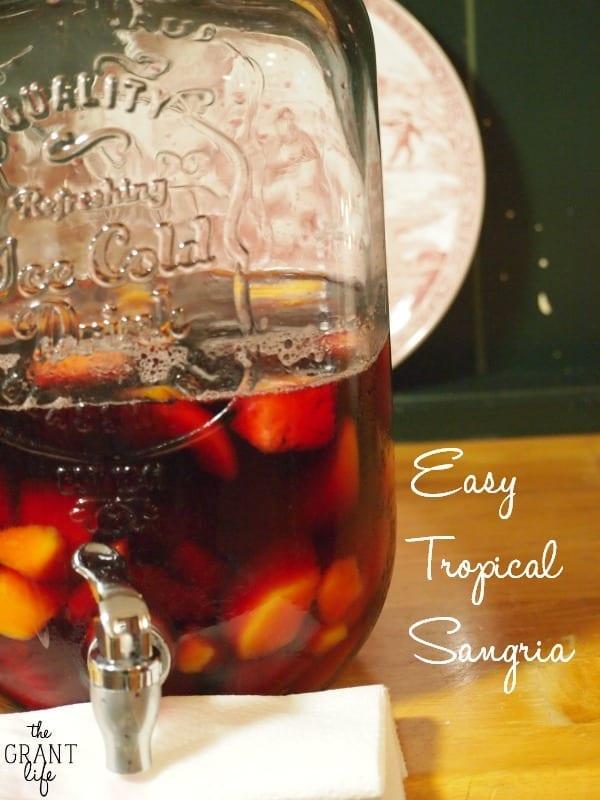 Easy Tropical Sangria Recipe