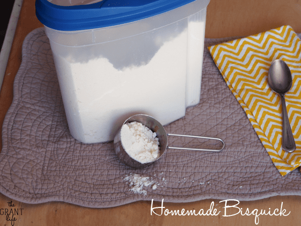 Easy homemade bisquick