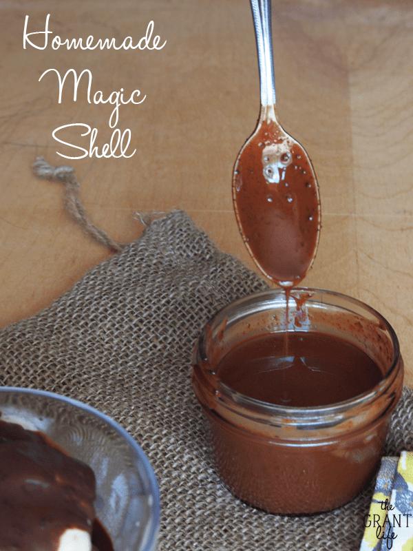 Easy homemamde magic shell!