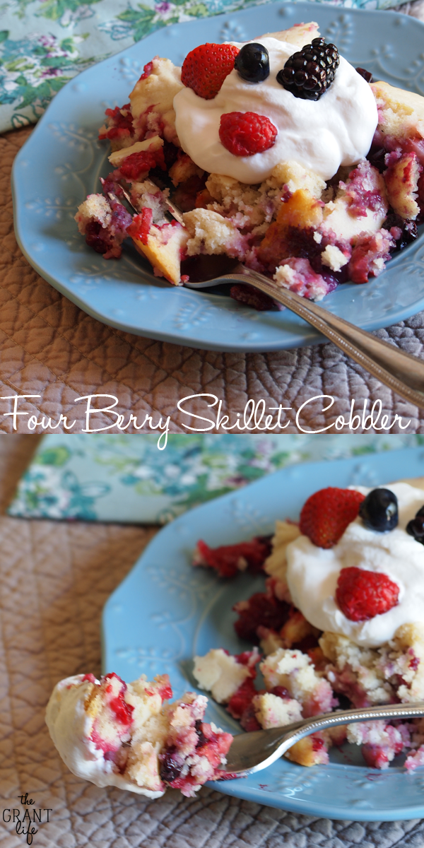 Four Berry Skillet Cobbler