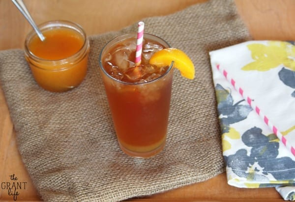 Iced peach tea.  Perfect for summer!
