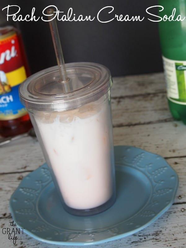 Peach Italian Cream Soda Recipe.