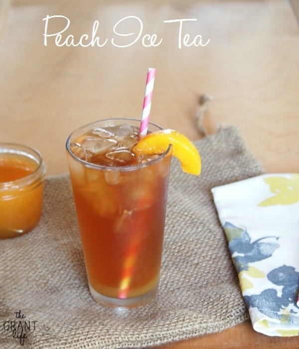 Simple peach ice tea.  Perfect for summer!