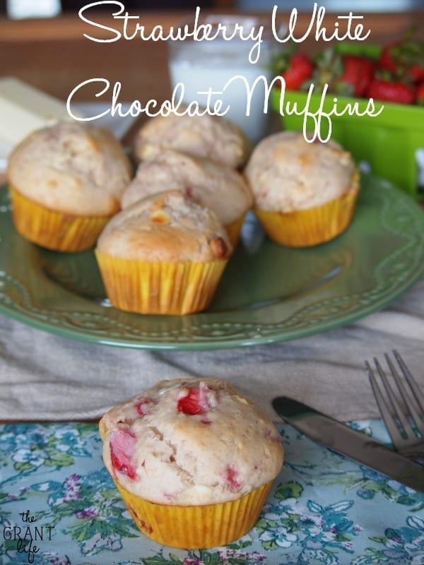 Strawberry white chocolate muffins recipe