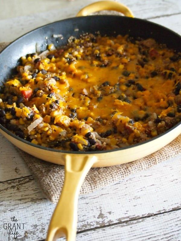 easy chipotle quinoa skillet