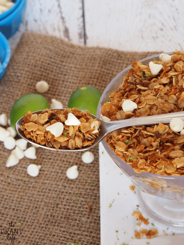 Delicious key lime pie granola!