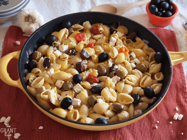 Easy greek pasta skillet