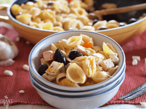 Greek pasta skilet - one dish meal!