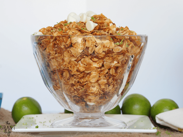 Key Lime Pie Granola - perfect for breakfast or snacking!