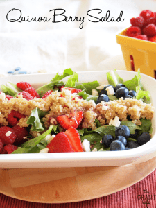 Quinoa berry salad!  So full of flavor!