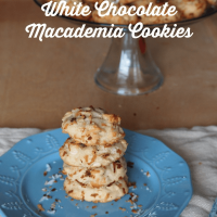 Toasted Coconut White Chocolate Macademia Cookies