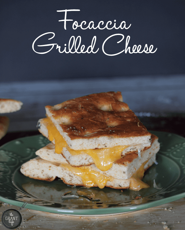 Easy Focaccia Grilled Cheese!