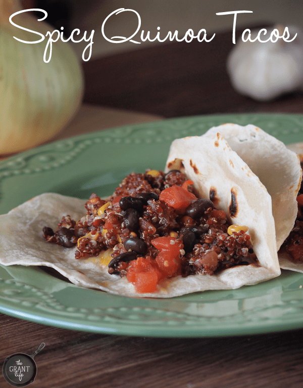Easy Spicy Quinoa Taco Recipe.