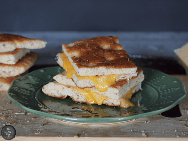 Focaccia grilled cheese