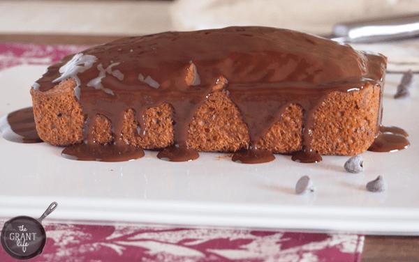 easy chocolate covered zucchini bread