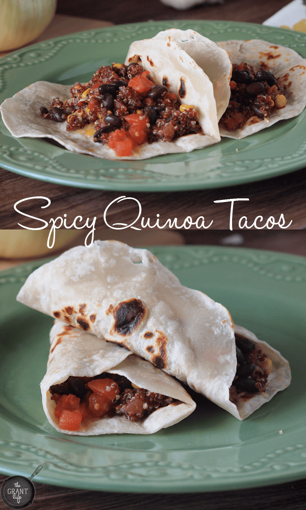 easy spicy quinoa taco recipe!