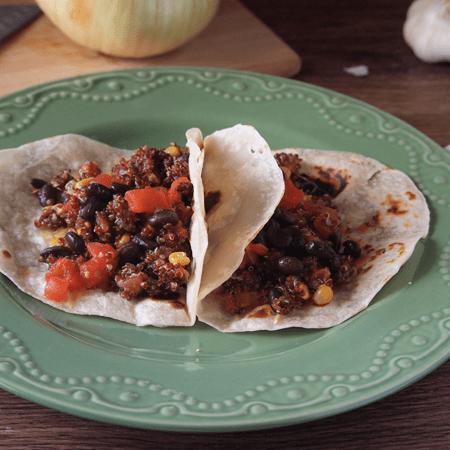 spicy quinoa tacos