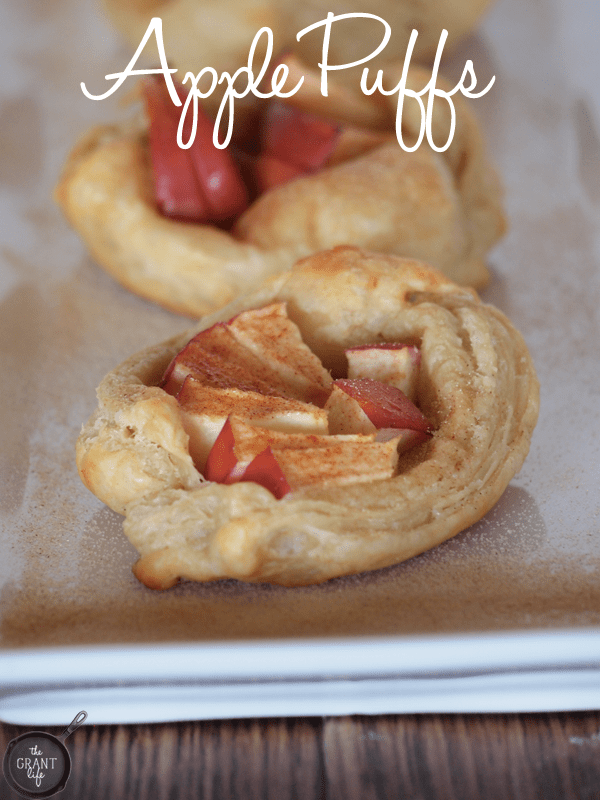 Apple puffs!  Easy to make and perfect for a quick dessert!