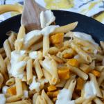 Butternut squash and mozarella pasta skillet