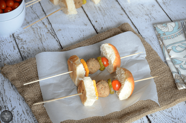 Meatball slider kebabs - perfect for a party!