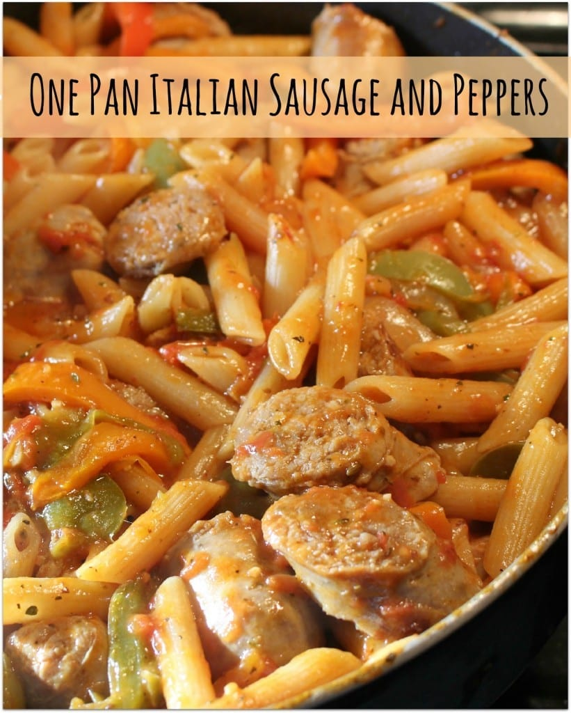 One-Pan Italian Sausage and Pepper Pasta