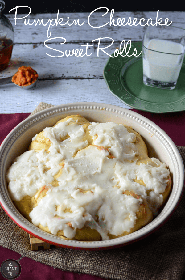 Pumpkin Cheesecake Sweet Rolls! Perfect fall breakfast