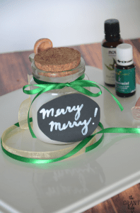 Christmas sugar scrub