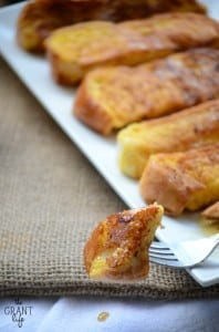 Easy eggnog french toast sticks recipe