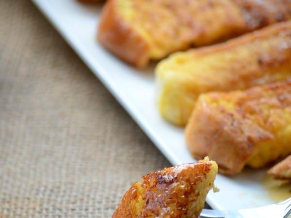 Easy eggnog french toast sticks recipe