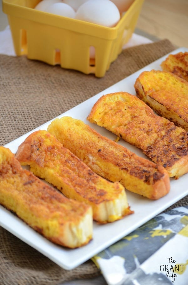 Eggnog french toast sticks recipe.  So easy!