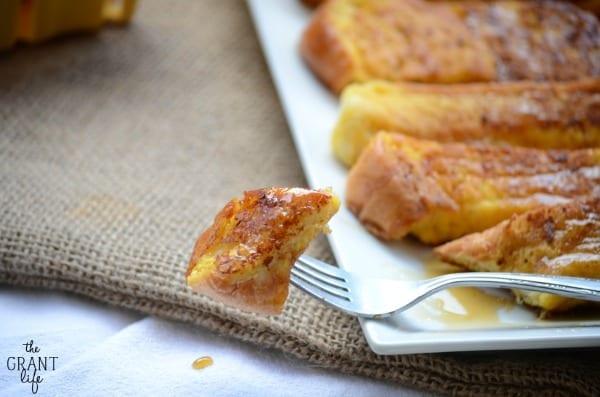 Eggnog french toast sticks recipe