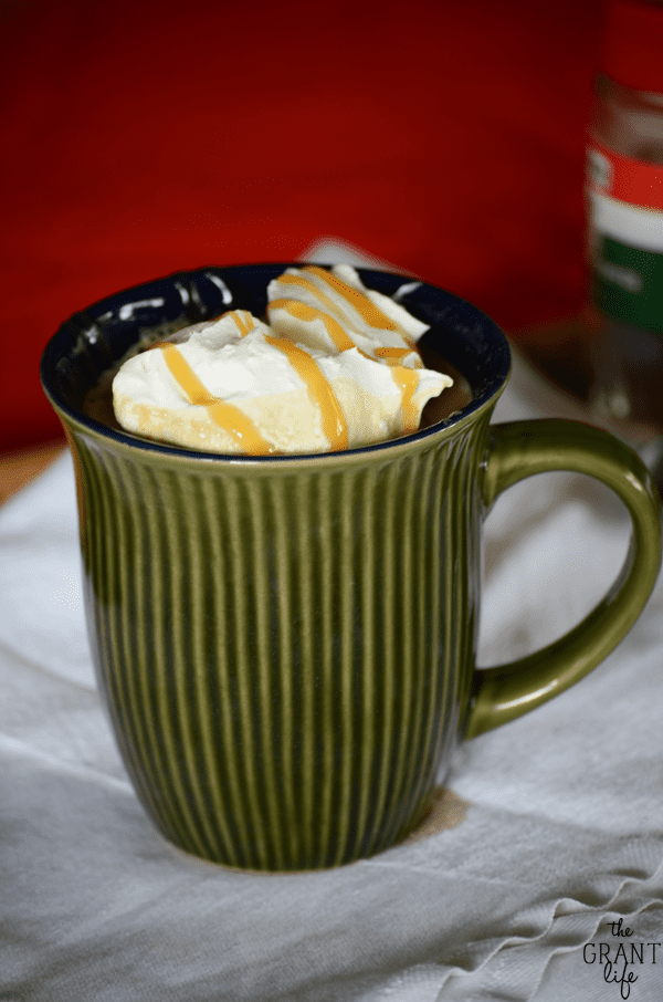 Easy eggnog latte!  Starbucks hack