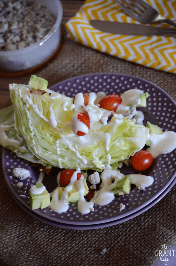 Avocado wedge salad - super easy and delicious