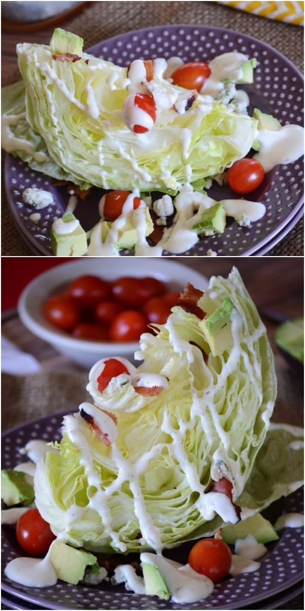 Avocado wedge salad