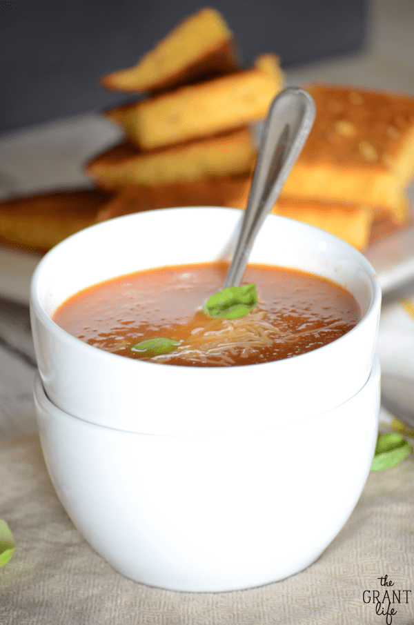 Can't wait to try this easy tomato basil soup! It looks so good!