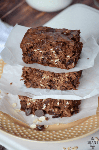 Cowboy brownies!  Oatmeal and chocolate chip brownies