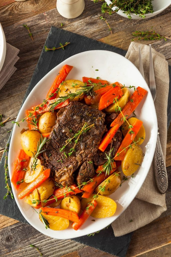 easy slow cooker pot roast dinner