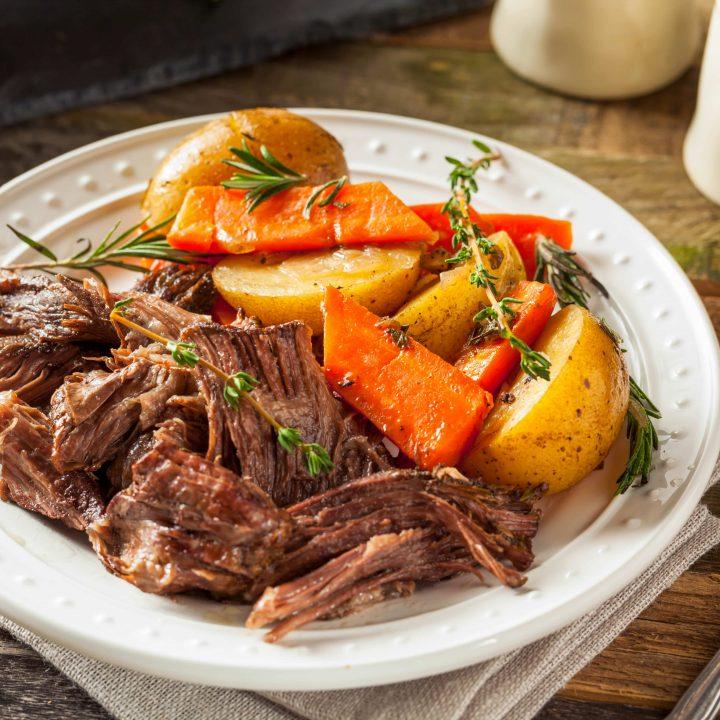 crock pot roast dinner