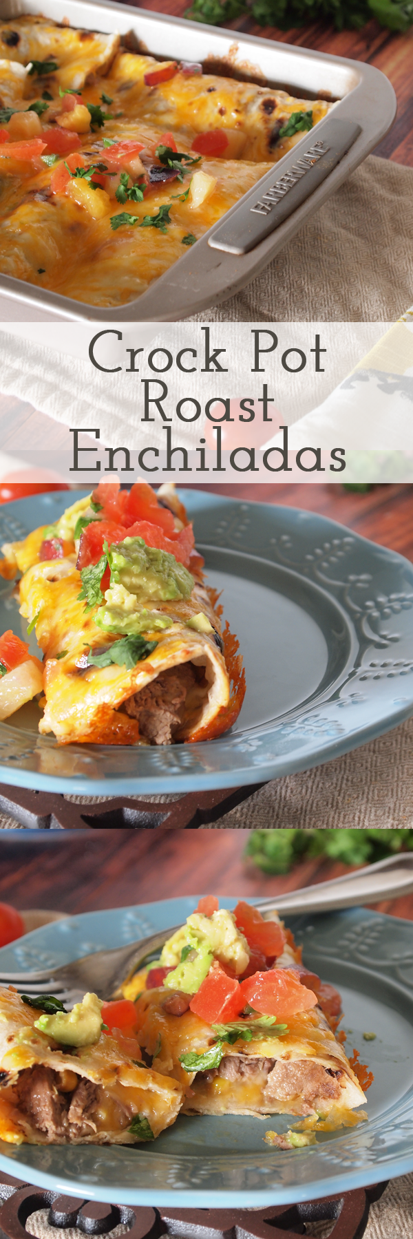 Crock pot roast enchilada recipe - seriously these are so easy to make and are perfect for a busy weeknight meal!
